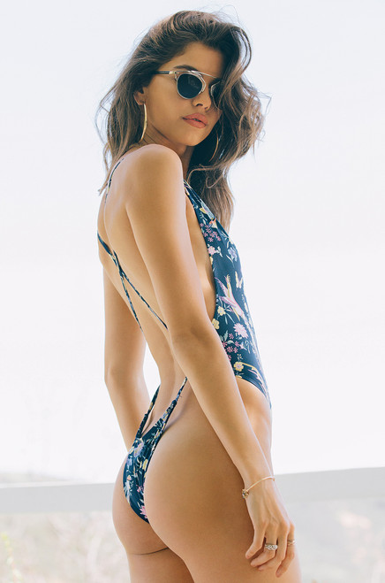 Seductive Safari Swimsuit - Navy Floral