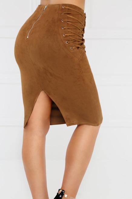 All For You Skirt - Camel