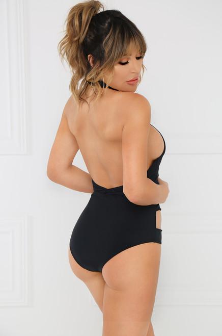 Stay Salty Swimsuit - Black