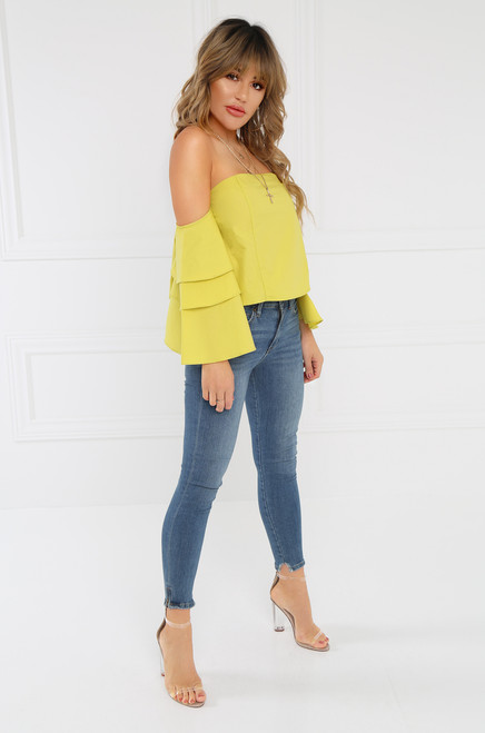 Femme Flair Crop Top - Yellow