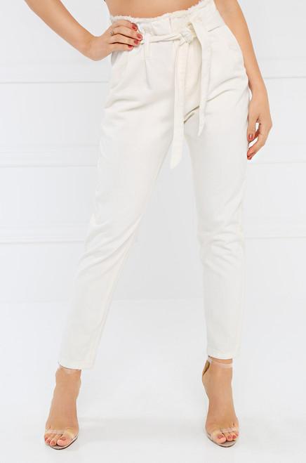 California Crop Pant - White Denim