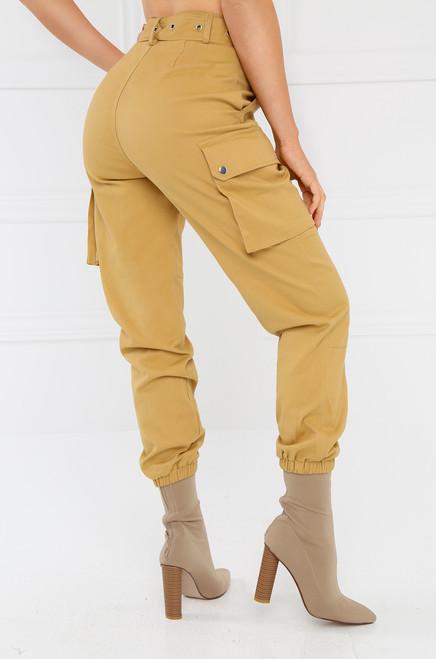 Style & Go Cargo Jogger Pant - Camel