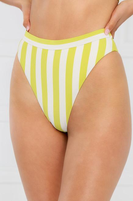 New Wave Bikini Bottom - Yellow Stripe