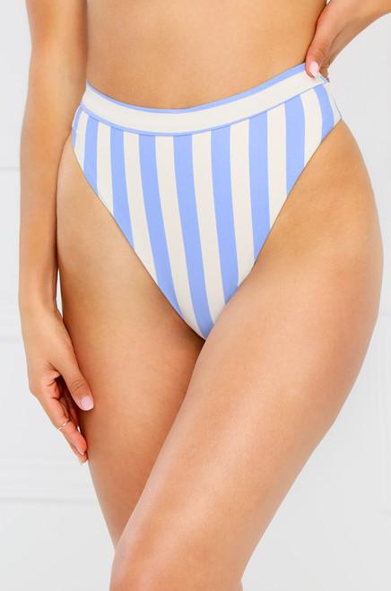 New Wave Bikini Bottom - Blue Stripe