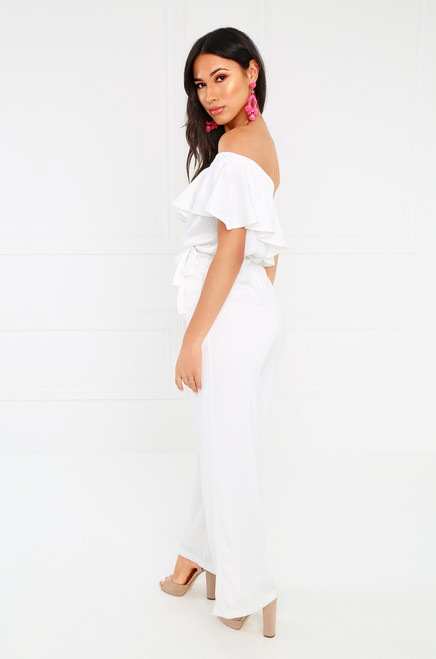 Forever Yours Jumpsuit - White