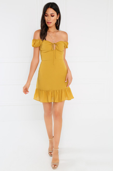 Good Girl Dress - Mustard