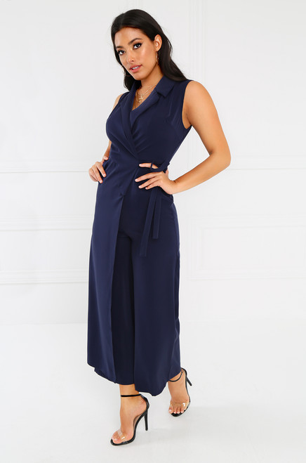 Cool It Jumpsuit - Navy