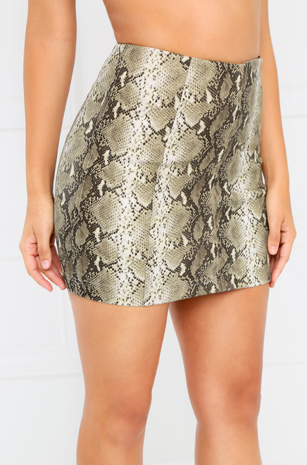 Unapologetic Skirt - Snakeskin