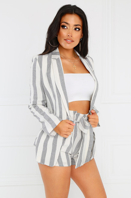 South Bay Blazer - Grey Stripe