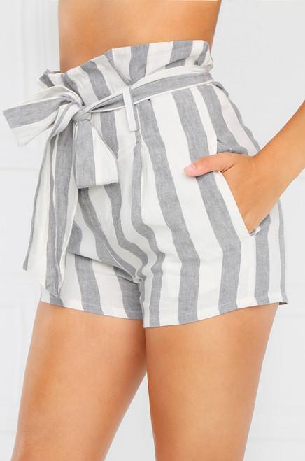 South Bay Shorts - Grey Stripe