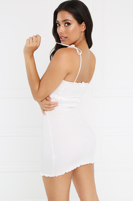 Simple Pleasures Dress - White