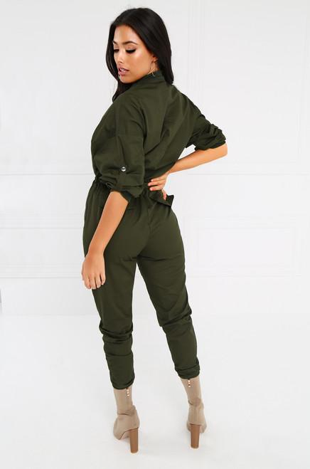 Revolt Jumpsuit - Olive