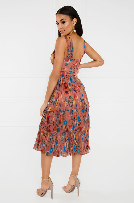 Steal My Sunshine Dress - Peach Floral
