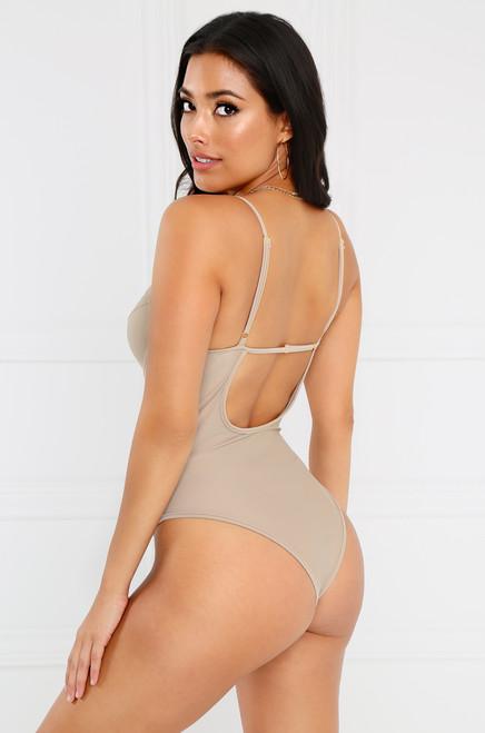 Seductress Bodysuit - Taupe