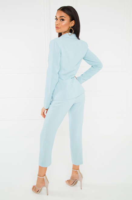 Above All That Blazer Set - Light Blue