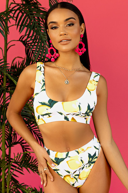 New Wave Bikini Bottom - Lemon Print