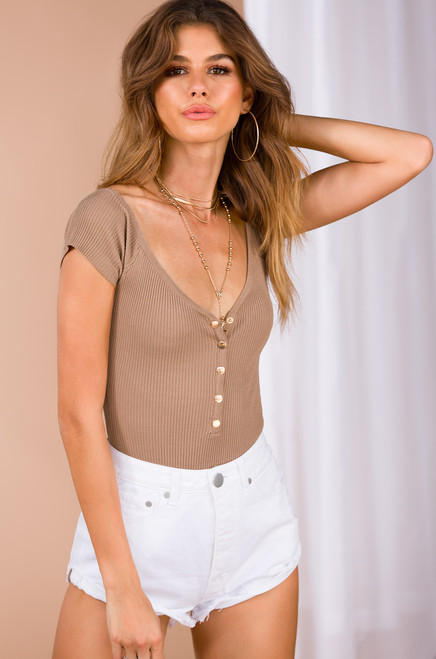 Bare Basic Bodysuit - Nude