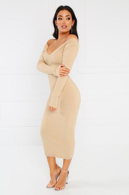 Double-Tap Dress - Nude