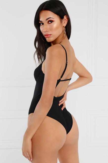 Seductress Bodysuit - Black