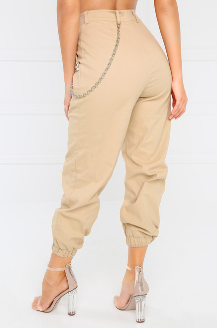 Outcast Crop Pant - Taupe