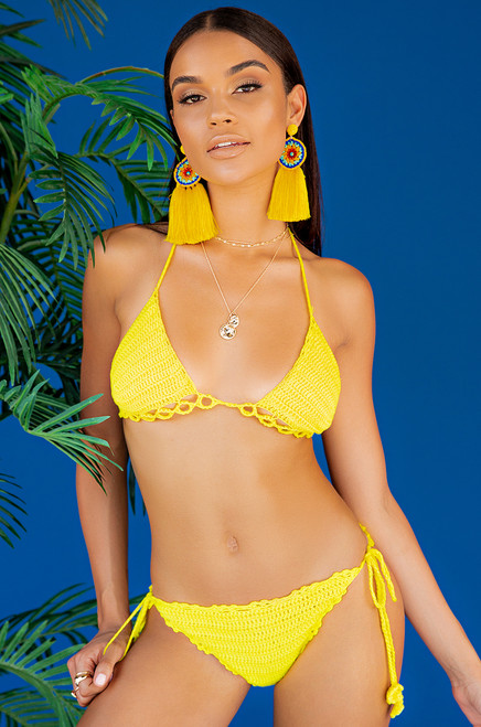 Drift Away Bikini Set - Yellow