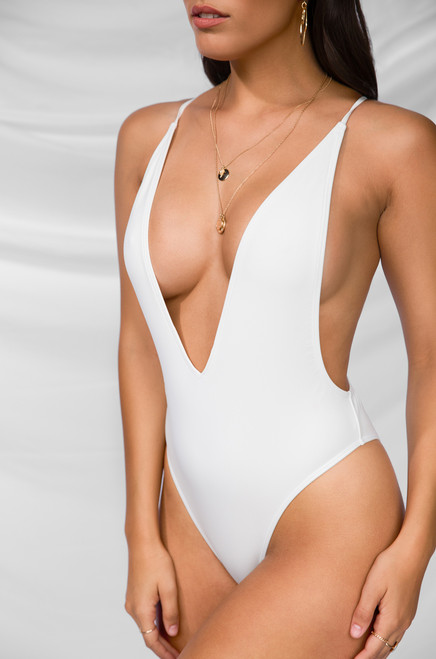 Bottoms Up Swimsuit - White
