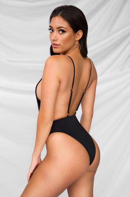Bottoms Up Swimsuit - Black