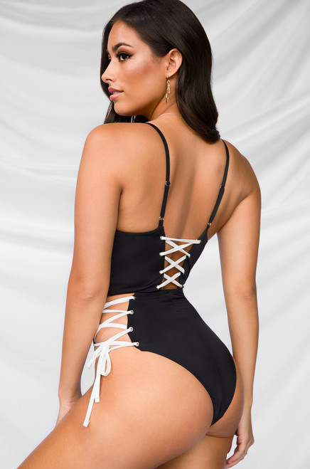 Off The Deep End Swimsuit - Black