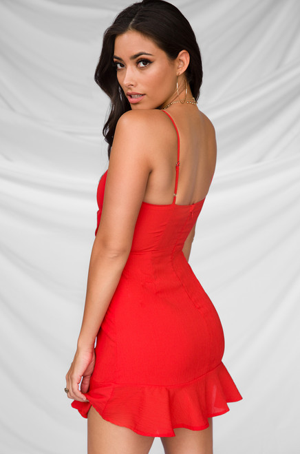 Cool Your Jets Dress - Red