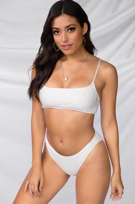 Blaze It Bikini Set - White