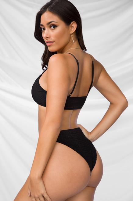 Blaze It Bikini Set - Black