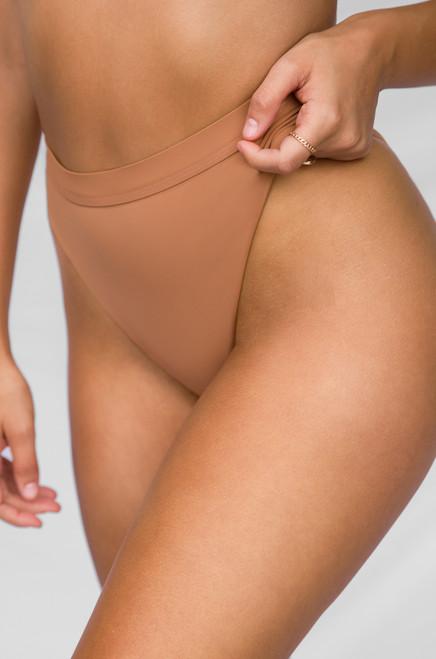 New Wave Bikini Bottom - Caramel