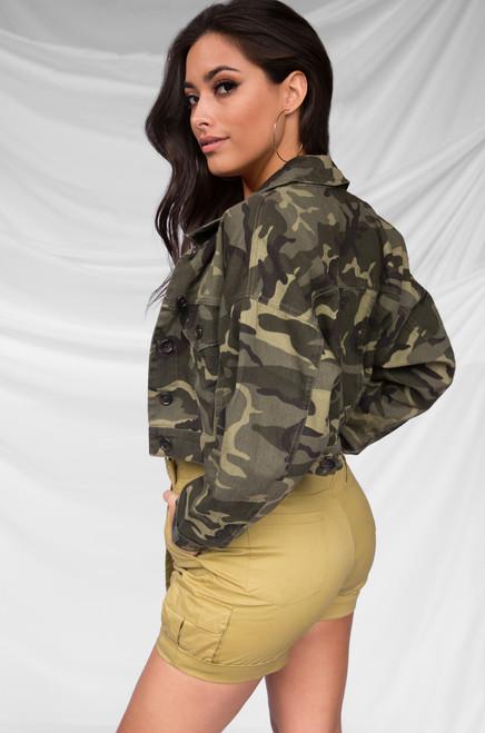 Plan Your Escape Jacket - Camouflage Denim