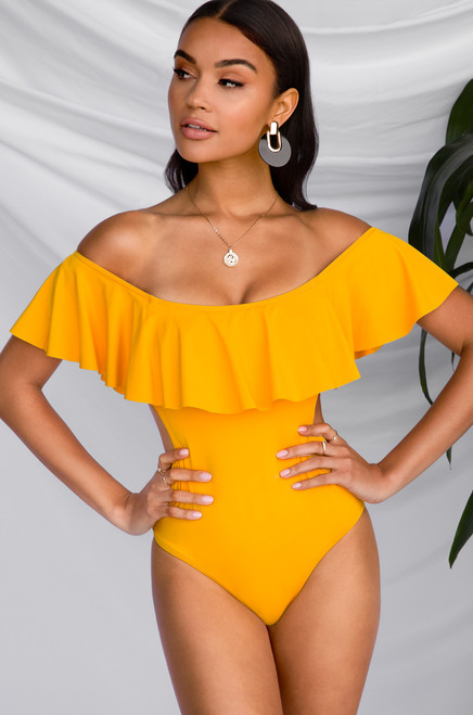 Haute & Ready Swimsuit - Yellow