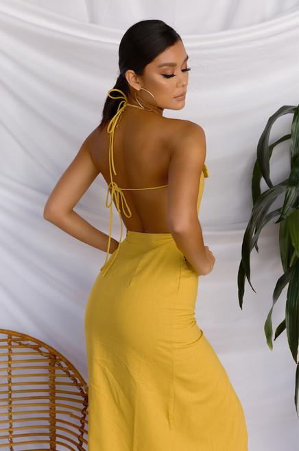 Venetian Dress - Mustard