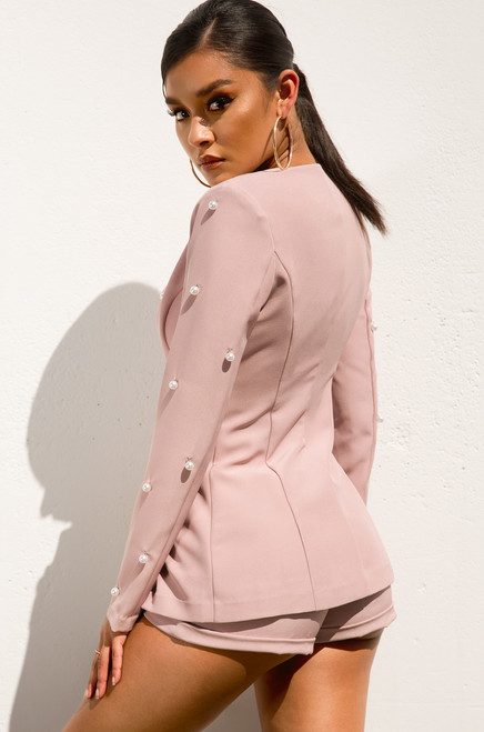 Love To Lead Blazer Set - Pink
