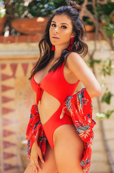 Hidden Treasure Swimsuit - Red