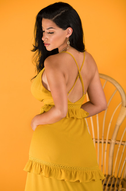 Have It Your Way Dress - Mustard