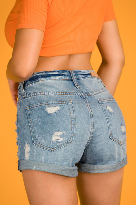 Mid-Summer Night's Jean Shorts - Light Wash Denim