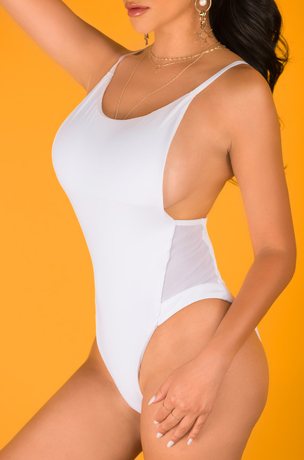 Look Back At It Swimsuit - White