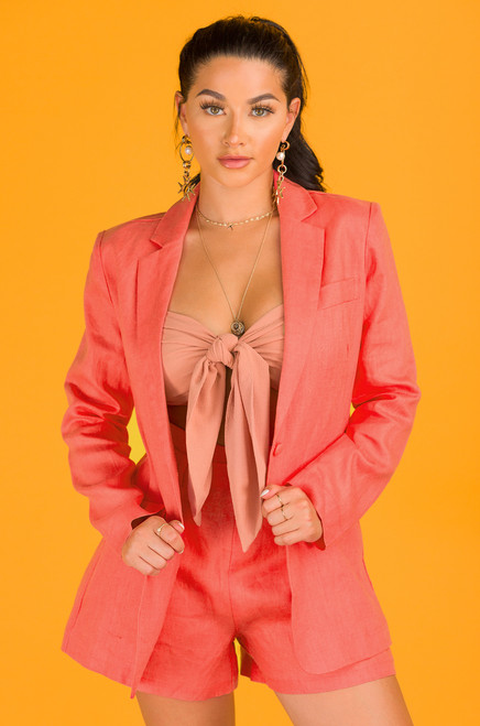 Run The World Blazer - Coral