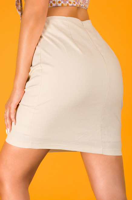 Press Your Luck Skirt - Nude