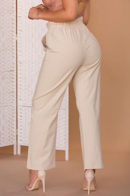 Calabasas Crop Pant - Nude