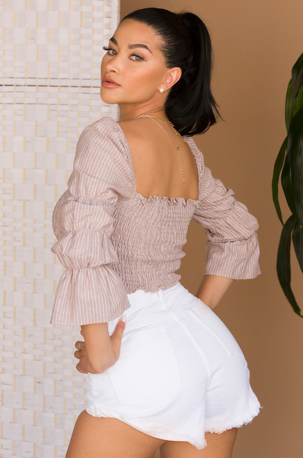 More For Me Crop Top - Nude