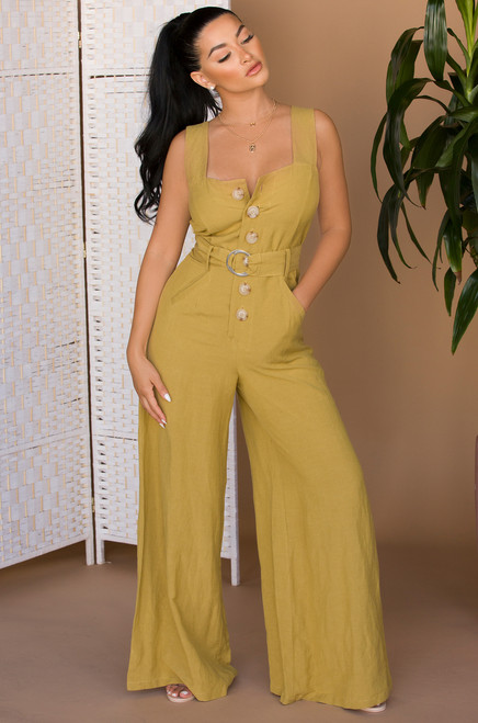 Free Your Mind Jumpsuit - Mustard