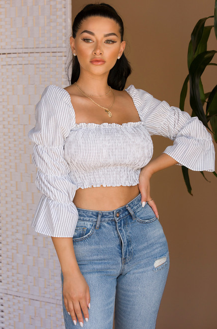 More For Me Crop Top - White
