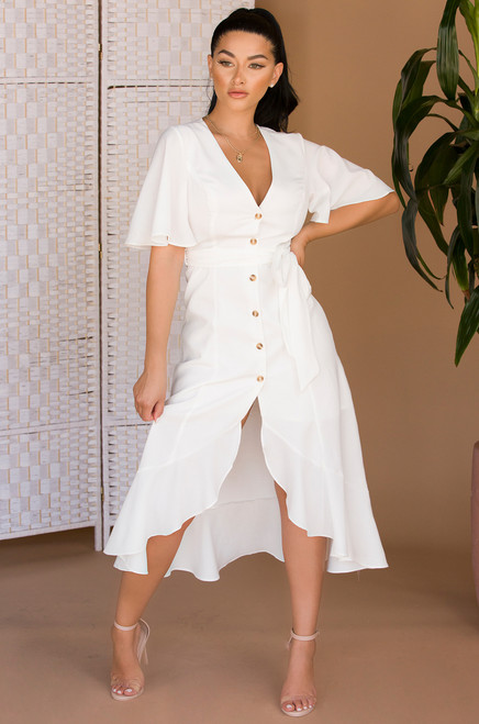 Rock The Boat Dress - White