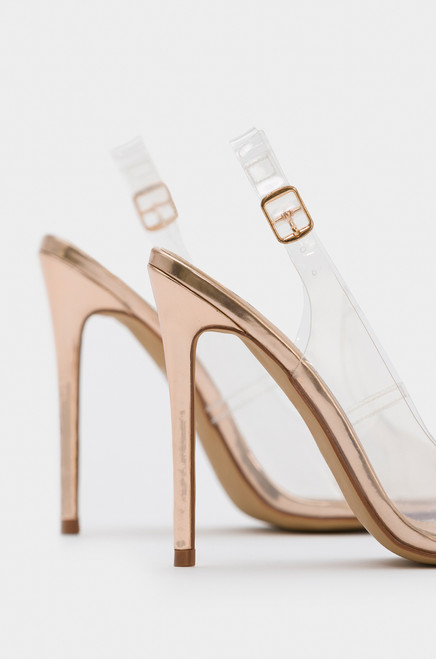 Mercy Me - Rose Gold Patent