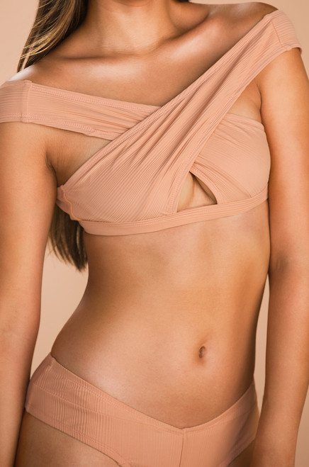 Chase The Chaos Swim Top - Blush