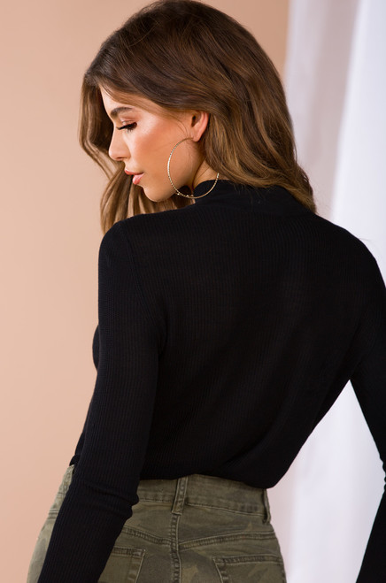 Hot Thoughts Sweater - Black